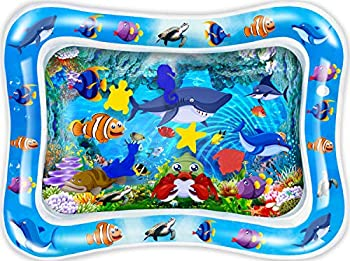 CUKU Tummy time Water Play mat Baby and Toddlers is The Perfect Fun time Play Inflatable Water mat,Activity Center Your Baby s Stimulation Growth