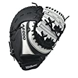 Wilson A2000 BM12 SuperSkin Fastpitch Glove, Black/White, 12', Right Hand