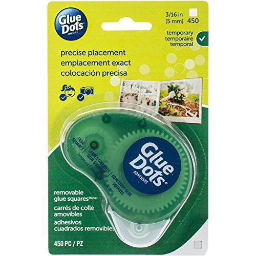 Glue Dots Doppelseitige Klebepunkte, Dot \'n Go Kleberoller, 450 Punkte, Ablösbar, Quadratisch, 5 mm, Vielseitige Verwendung, DIY Basteln und Scrapbooking