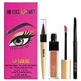 One Click Beauty b.FABULOUS 3-Piece Eye Kit, Longwear Makeup, The Warm Nudes