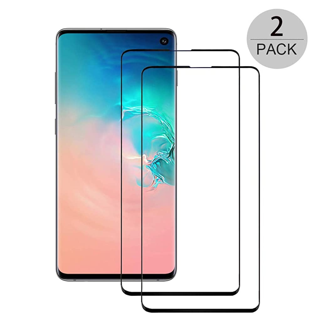 Galaxy S10 Screen Protector, UZER Tempered Glass Film 3D Curved Edge,HD Clear, Ultra-Thin, Case Friendly/96% Coverage, 9H Hardness,Bubble Free,Anti-Scratch for Samsung Galaxy S10 6.1