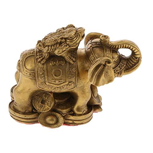 Backbayia Crapaud elefante - Figura decorativa para decoración del hogar