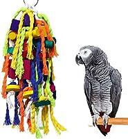 大小のオウム咀嚼玩具-オウムケージバイト玩具コニュアオカメインコアフリカングレイおよび他のオウムのための木製ブロック引き裂き玩具