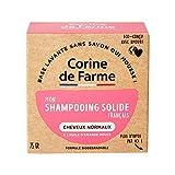 Corine de Farme | Shampooing Solide Cheveux Normaux | Vegan - Formule Biodégradable | Beauté Zero Déchet | Format Pratique Et Economique | Eco-conçu 100% Fabriqué en France