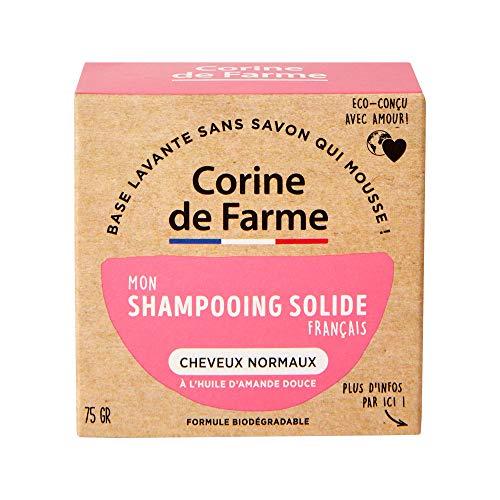 Corine de Farme   Shampooing Solide Cheveux Normaux   Vegan - Formule Biodégradable   Beauté Zero Déchet   Format Pratique Et Economique   Eco-conçu 100% Fabriqué en France
