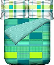 Portico New York Marvella 144 TC Cotton Bedsheet with 2 Pillow Covers - Abstract, Bed Linen Queen Size, 8044272 -Multicolor