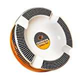 Best Cigar Ashtrays - Montecristo- Stunning Cigar Ashtray (Round White) Review