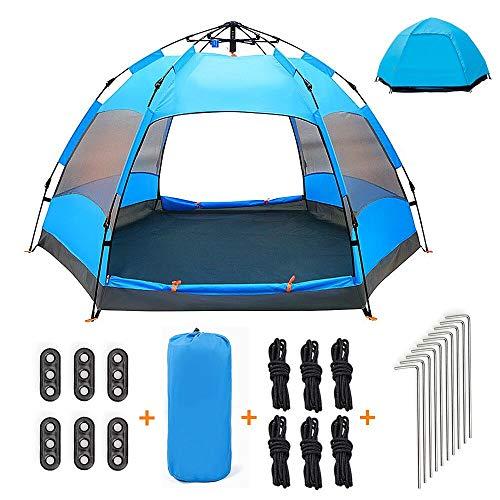 XISHUAI Tente de Camping 3-4 Personnes - 100% Anti UV Pop Up Instantanée Tente Dôme Abri - Double...