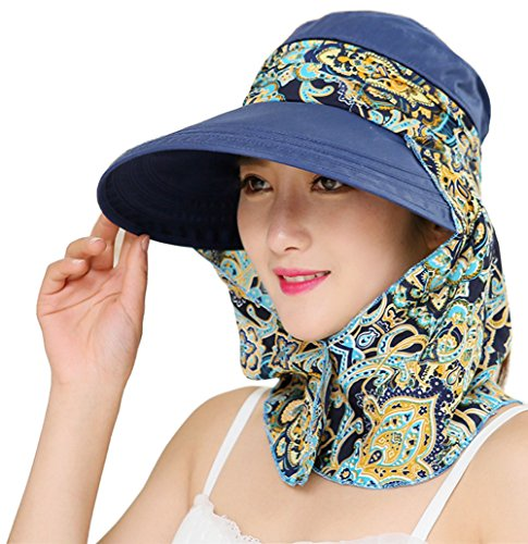 iHomey Roll Up Wide Brim Visiera Parasole UPF 50+ Protezione UV Cappello con Protezione per Il Collo