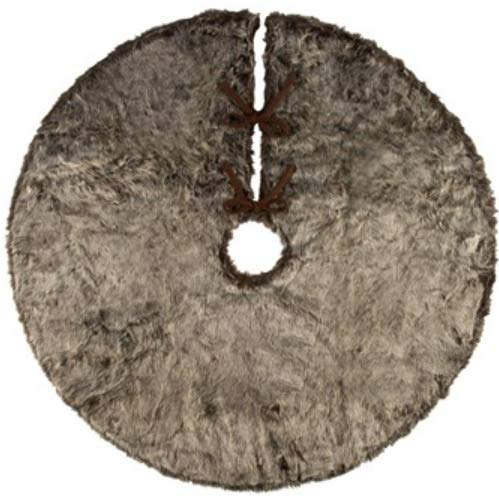 Gray 49 inch Solid Faux Fur Christmas Tree Skirt for Home, Office, Hotels and More