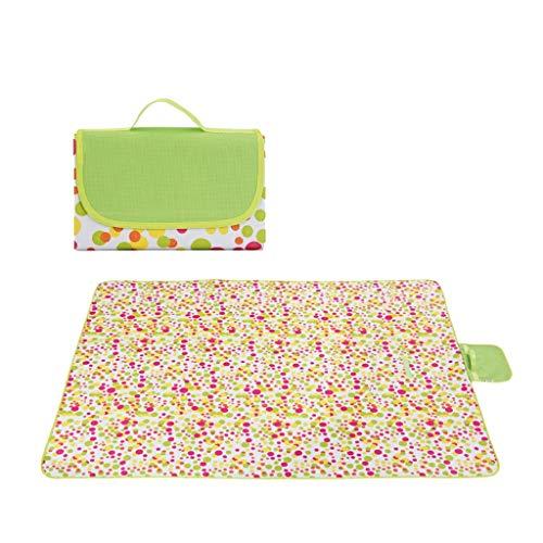 Nosterappou Tapis de pique-nique, tapis de pelouse de printemps de sortie sauvage, tapis de pique-nique en tissu portable, tapis de pique-nique imperméable pour pelouse, conception de pliage intégrée,