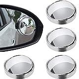 Espejos para Puntos Ciegos, 4 Piezas Espejo Retrovisor de Punto Ciego, Espejo de Punto Ciego para Coches, 360 ° Giratorio, HD Impermeable, para Mejorar la Seguridad en la Conducción