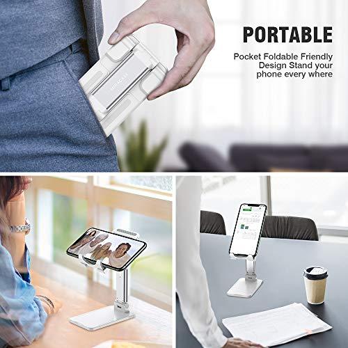 Miracase verstellbare Tablet Halterung, faltbare Tablet Ständer, dual-funktion Ständer für Handy&Tablet, universal iPad Halterung, Phone Dock, Pad Ständer kompatibel mit meisten Tablets und alle Handy