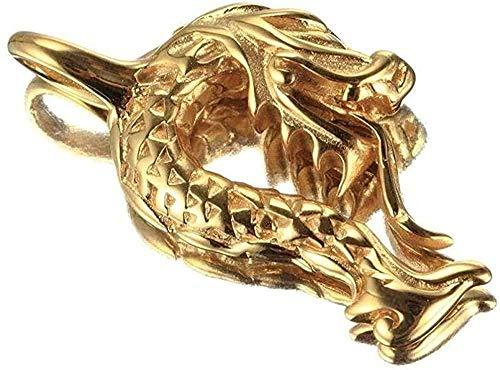 WLHLFL Collar Joyas de Acero Inoxidable Collar de Hombre Grifo de la Vendimia Collar con Colgante de Acero de Titanio Regalo de Oro Dorado para Mujeres Hombres Regalos