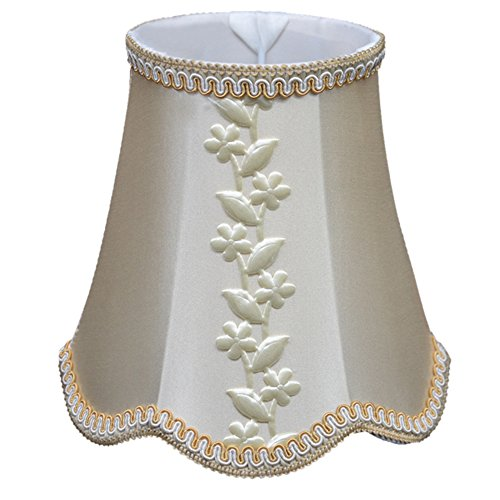 Cleeacc Lampshade Lamp Cover Decorative Handmade Classic European Style Fabric Material Lamp Shade for Wall Elegant Lampshde Home Decoration Lamp Cover Lighting Accessories 100150160MM Design 2