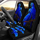 Hyacinth Macaw Parrot Print Car Seat Covers