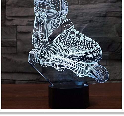Rollschuhe Led 3D Led Nachtlicht Mode Schuhe Tisch 3D Lampe Led Kinder Kinderzimmer Dekorative Beleuchtung Großes Geschenk Licht Box