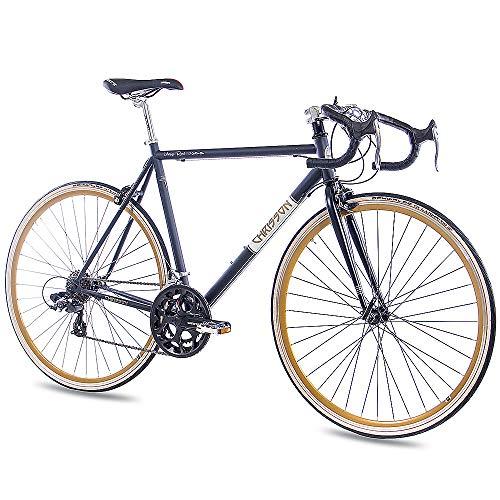 CHRISSON '28Pulgadas Carreras Urban Rueda Bicicleta Vintage Road 1.0con 14g Shimano Retro Negro Mate