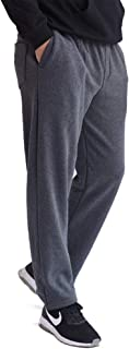 IDEALSANXUN Men's Casual Fleece Lined Elastic Waist Loose Long Sweatpants