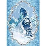 Allenjoy Winter Frozen Ice Castle Backdrop for Photography Kids Newborn Girl Fairytale Party Decoration Christmas Baby Shower Children Portrait Photo Booth Studio Props 5x7ft Photoshoot Background