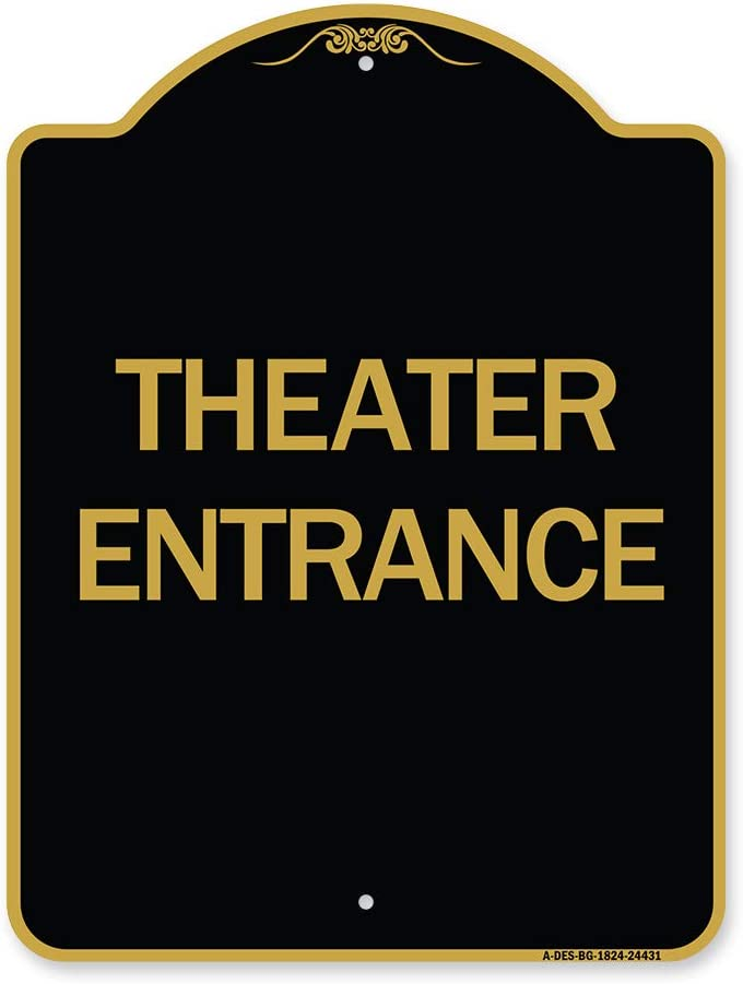 SignMission Designer NEW before selling Series Sign - Theater Entrance Go New mail order Black