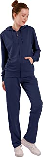 Womens Sweatsuits Sets Warm Up Sports Zipper Outfit 2 Pieces Hoodie and Pants Jogging Sets