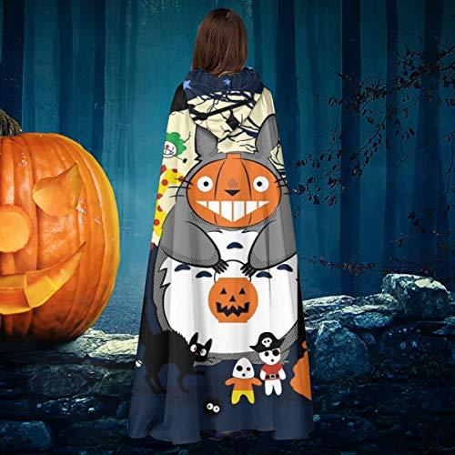 NULLYTG Creatures of The Night Studio Ghibli - Disfraz de Bruja con Capucha Unisex para Halloween