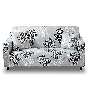 HOTNIU Funda Elástica de Sofá Funda Estampada para sofá Antideslizante Protector Cubierta de Muebles (Dos Plazas, Patron #15)