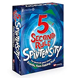 Spintensity is an all-new, spinfully intense, electronic version of 5 Second Rule! Beat the spinning timer to name 3 things from the card in 5 seconds Then press the spinner again for a new challenge every time! This electronic 5 Second Rule is even ...
