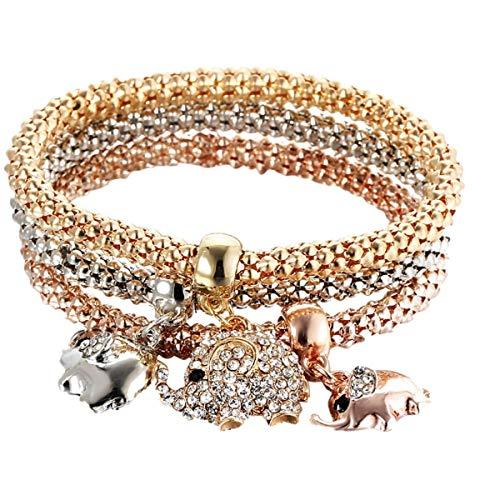 Qiuday Böhmische Schildkröte Charme Armbänder Armreifen Für Frauen Strand Armbänder Sets Schmuck Geschenke Damen Armband Gold Silber Rose Gold Strass Schmuck Set