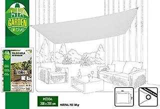Aktive Garden 53916 - Toldo Vela para Exterior Blanco 200 x