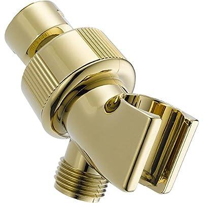 DELTA U3401-PB-PK Adjustable Shower Arm Mount, Polished Brass,0.5