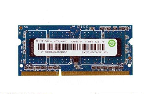 RAMAXEL 2GB 1Rx8 PC3-10600S DDR3 1333MHz SO-DIMM Laptop Memory RAM RMT3010EC58E8F-1333