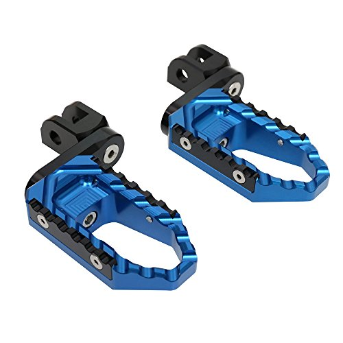 MC Motoparts CNC 40mm Adjustable Front Touring Foot Pegs For Yamaha FJR 1300 01-13 04 05 06 07 08 09 10 11 12 (Blue)