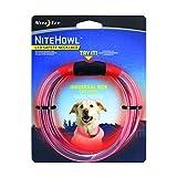 Nite Ize NiteHowl LED Dog Light Collar Safety Necklace - Red