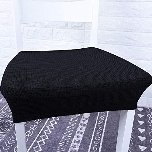 A sixx Housses de siège de Chaise de Couverture de Chaise de Jacquard, Housse de siège Anti-fouling imperméable à l'eau de Coussin de siège, pour Le Restaurant de Cuisine(Black)