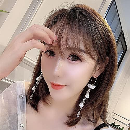 FEARRIN Pendientes Joyas de Moda Perla Gota para el oído Retro Simple en Forma de corazón Borlas Pendientes Mujer Boda Pendientes Joyería de Fiesta 5787E