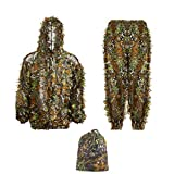 Best Ghillie Suits - Ghillie 3D Hunting Suit Bionic Green Leaf Woodl Review