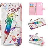 nancencen Kompatibel für Huawei P Smart Plus/Enjoy 7s Plus/Nova 3i Hülle - PU Leder Wallet Kartenfach Handyhülle Klapphülle Magnet Flip Cover - Farbmusik
