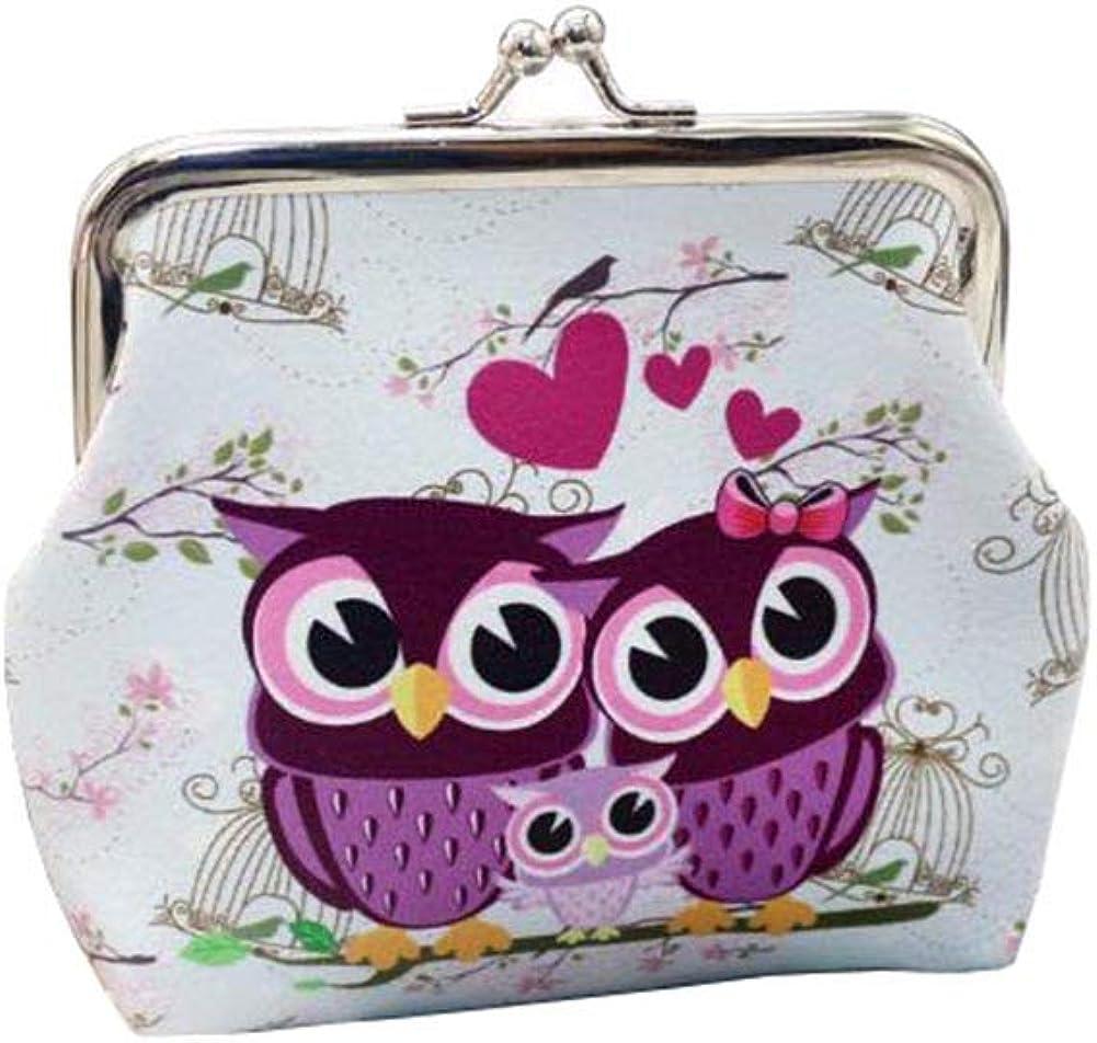 Ularma Damen Geldbörse Vintage Pu Leder Brieftasche Eule Handtasche Mini Tasche A Bekleidung