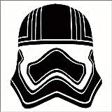 CCI Captain Phasma Star Wars Decal Vinyl Sticker|Cars Trucks Vans Walls Laptop|Black |5.5 x 4.75 in|CCI1961