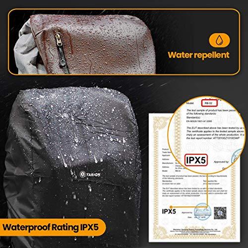 TARION Kamerarucksack Wasserdicht Fotorucksack Spiegelreflex Kameratasch Zertifizierte Schutzklasse: IPX5 Wasserdicht Kamera Rucksack mit Regenhaube für Damen und Herren