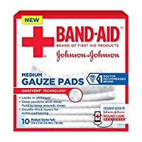 """Band-Aid ガーゼパッドミディアム3X3"""" - 10 CT、6パック"""