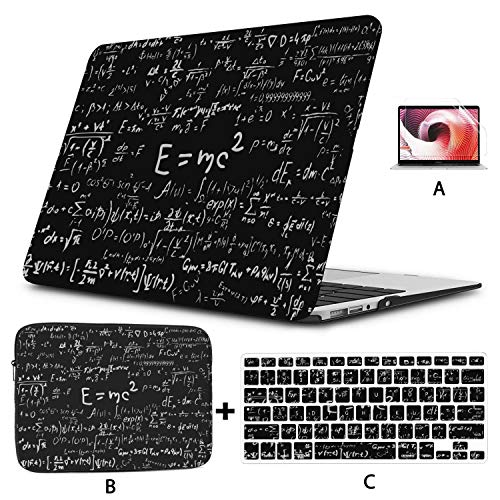 Macbook Pro 2017 Accessories Blackboard Inscribed Scientific Formulas Calculations Physics Macbook Pro 15 Cover Hard Shell Mac Air 11'/13' Pro 13'/15'/16' With Notebook Sleeve Bag