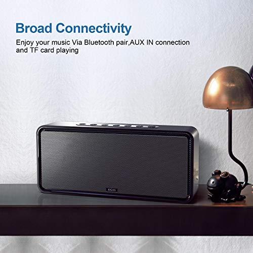 DOSS SoundBox XL-Altavoz Bluetooth de Casa Wireless Home Speakers para Streaming de Música Music Box con 12W de Subwoofer para iPhone, iPad, Huawei- Negro