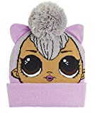 L.O.L. Surprise! Conjunto de Bufanda y Guantes Niña Con Gorro LOL Dolls, Gorros de Punto Para Niños Muñecas Lol Kitty Queen Queen Bee Hops y Unicorn, Regalos Lol Para Niñas (Kitty Queen Only Hat)
