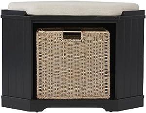 "Home Decorators Collection Whitaker Corner Bench, 20"" Hx28 Wx20 D, Black"