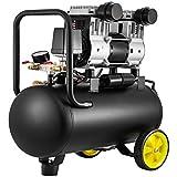 Mophorn Compresor de Aire 30L, Compresor Silencioso 30L, Compresor de Aire de 30 Litros 220V, Filtro De Aire, Compresor de Aire Portatil, 1450 PRM, 170L / Min