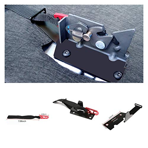 RONGSHU Rückseite des Sitzes Release Kit Red Strap Fit für Ford Supercrew F150 2009-2018 / Supercab F150 2015-2018 / F150 Raptor 2017-2018 / F250 / F350