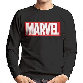 MARVEL Classic Logo White Font Men's Sweatshirt